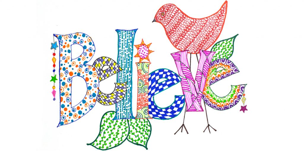 Adult Creative Makerspace: Doodle Word Art - JCPL ORG