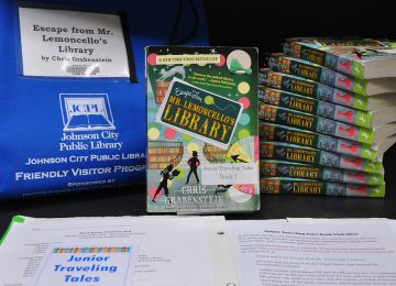 An example of a Junior Traveling Tales book club kit