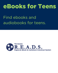 Text: ebooks for teens: find ebooks and audiobooks for teens. Links to READS digital library.