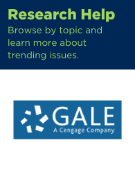 Text: Research help: Browse by topic and learn more about trending issues. Links to Gale in context.