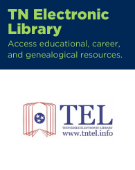 Text: TN Electronic Library: Access educational, career, and genealogical resources. Links to Tennessee Electronic Library