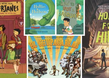 A collage of books featured in the cryptid book scouts