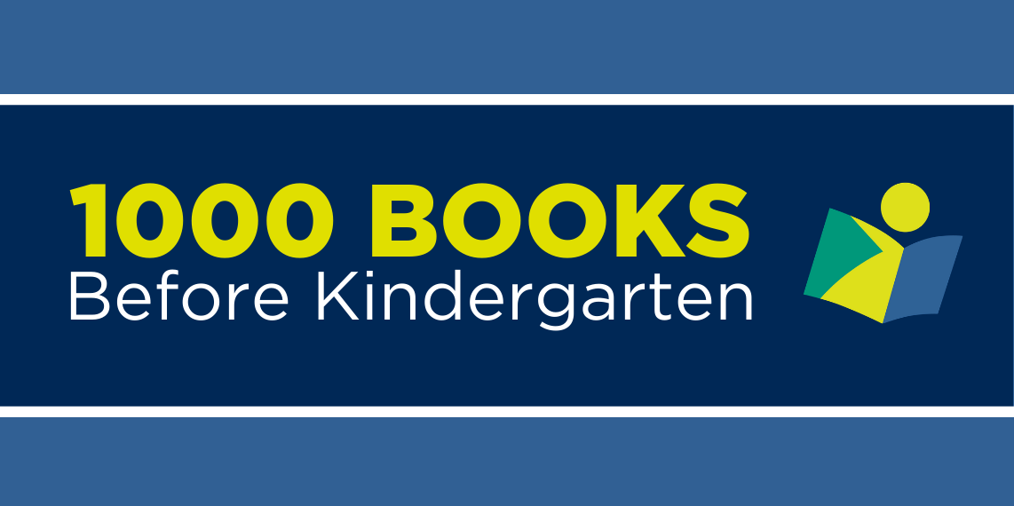 Text: 1000 Books before kindergarten