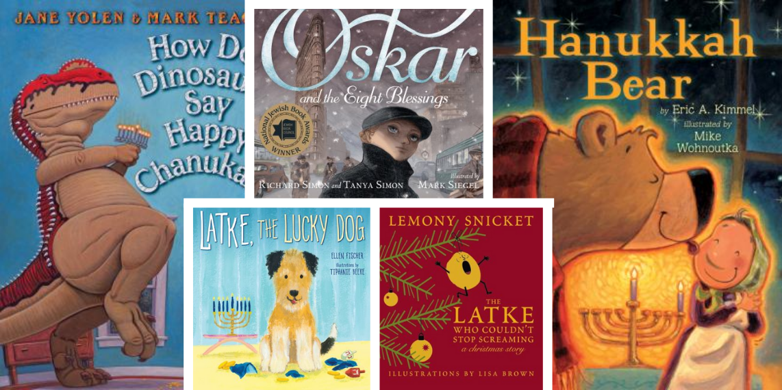 Book Covers for various Hanukkah reads in this month's book scouts