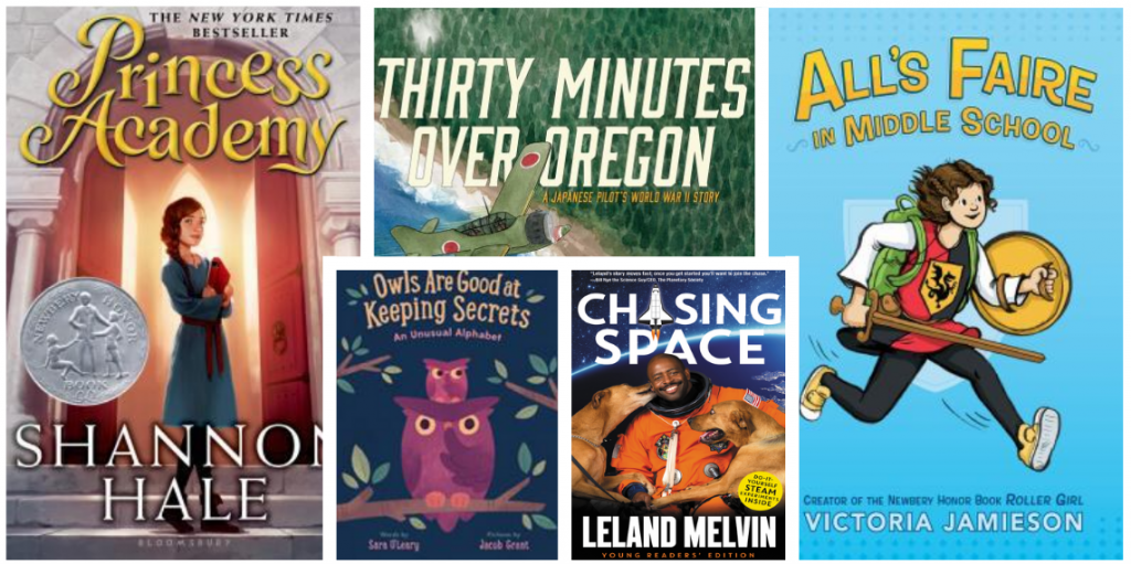 Several book covers from Jennifer's favorite books placed in a grid