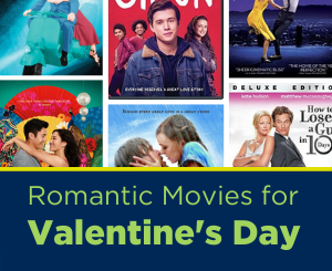 Text: Romantic Movies for Valentine's Day